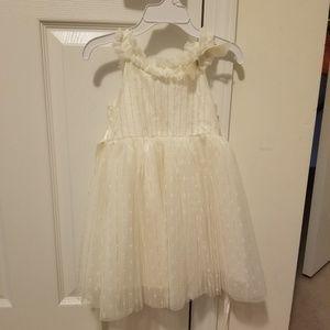 BNWT 3T off-white/cream dress